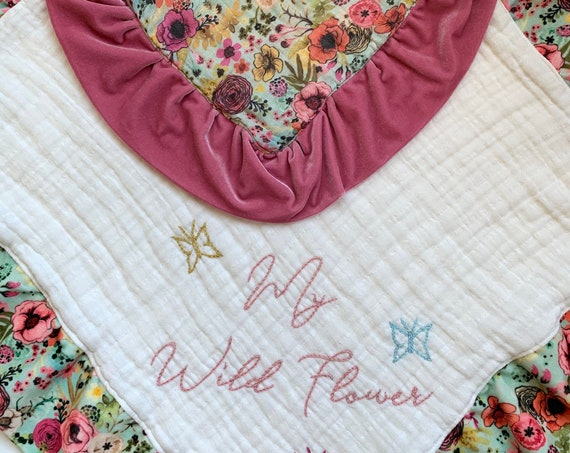 "My Wild Flower Floral Frenzy 24"" Lovey and Doll Lovey SET"