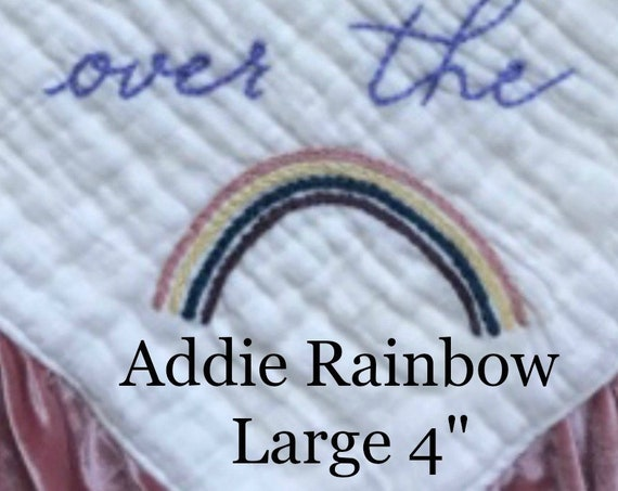 Hand embroidered Rainbow Add ons for Velvet Loveys and Blankets
