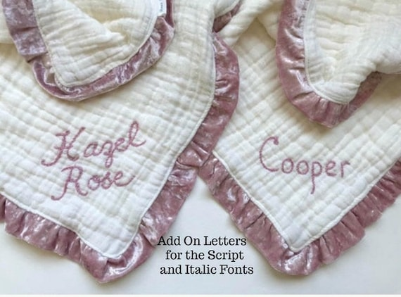 Additional Embroidery fee for Extra Script and Italic Font Letters