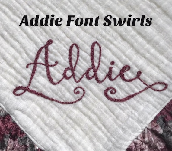 Additional Fee for the Addie Font Swirls