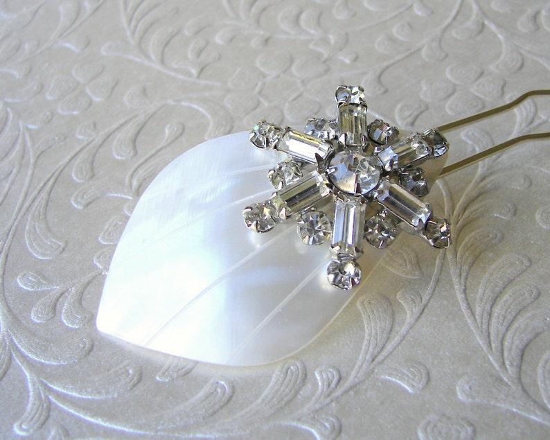 Starfish Rhinestone Hair Comb Beach Wedding Hairpiece Bohemian image 0