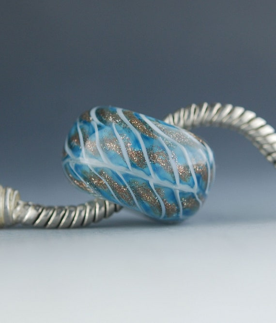 Large Hole BHB Lampwork Glass Charm Bead