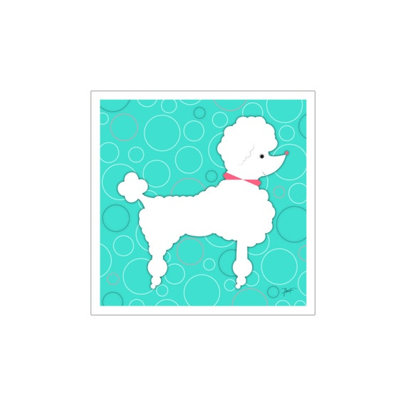 POODLE PACK OF 4 VINTAGE STYLE DOG PRINT GREETINGS NOTE CARDS #3