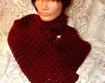 Crochet Pattern-Autumn Breeze Scarf Set