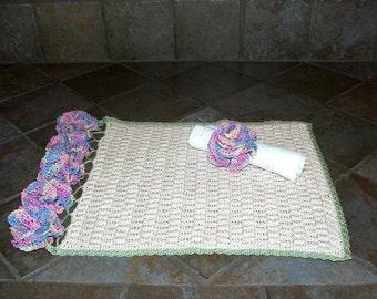 Crochet Pattern-Basket Weave Placemats
