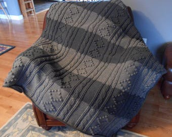 Crochet Pattern-Irish Hills Afghan