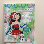 RESERVED for Loretta Mixed Media Painting ,  Whimsical art,  Childrens Art, Original painting,