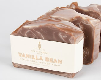 Vanilla Soap - Vanilla Bean Noel Soap - One (1) Cold Process Soap - Handmade Soap - Shea Butter