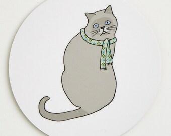 Cat Coaster - Alfred