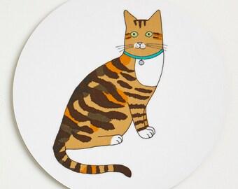 Cat Coaster - Tortoiseshell