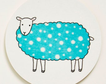 Sheep Coaster - Blue