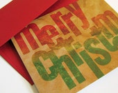 Brown Bag Merry Christmas - card set of 10