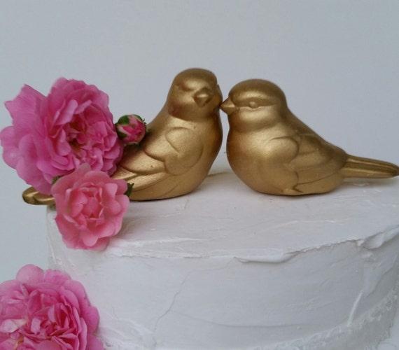Love Birds Family Wedding Cake Topper Wedding Five Gold Rose Gold Love Birds Home Decor Ceramic Vintage Bird Design