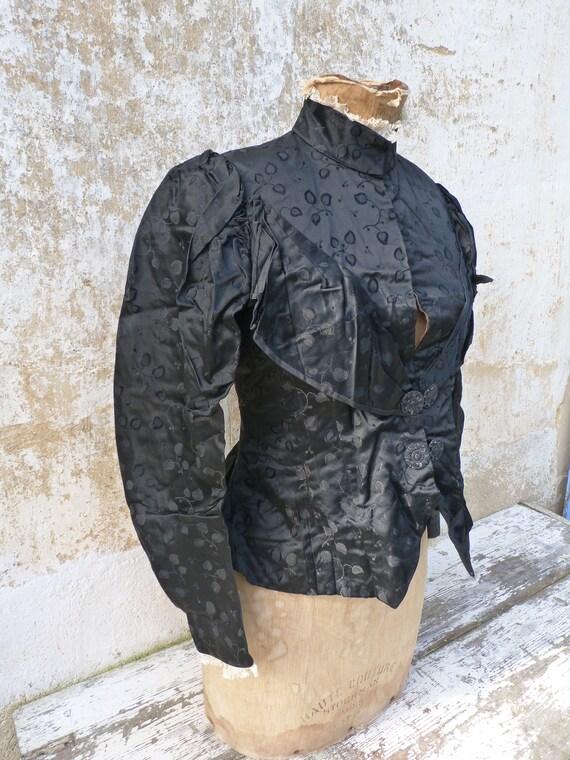 Vintage Antique 1870/1900 French Victorian black … - image 3