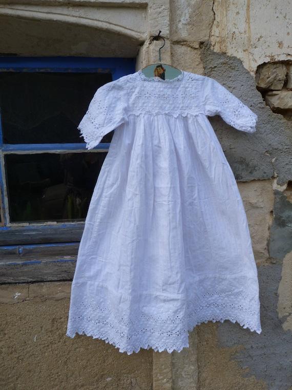 Vintage Antique Edwardian French 1900 white  cotto