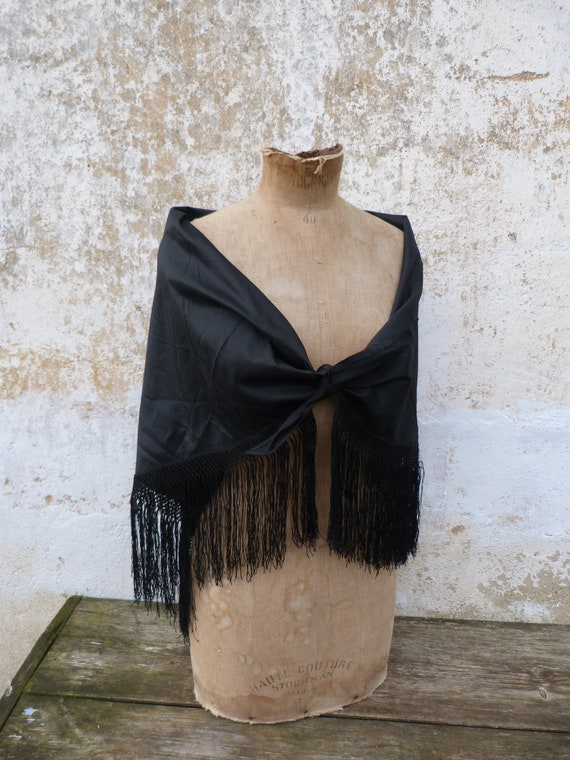 Vintage Antique old French Victorian 1890s scarf s