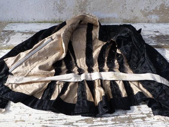 Vintage Antique 1870/1900 French Victorian black … - image 4