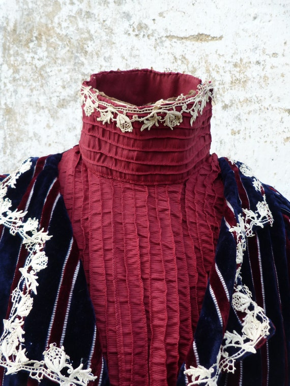 Vintage Antique  1850/1890 Victorian old French s… - image 3