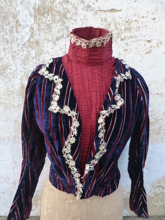 Vintage Antique  1850/1890 Victorian old French s… - image 2