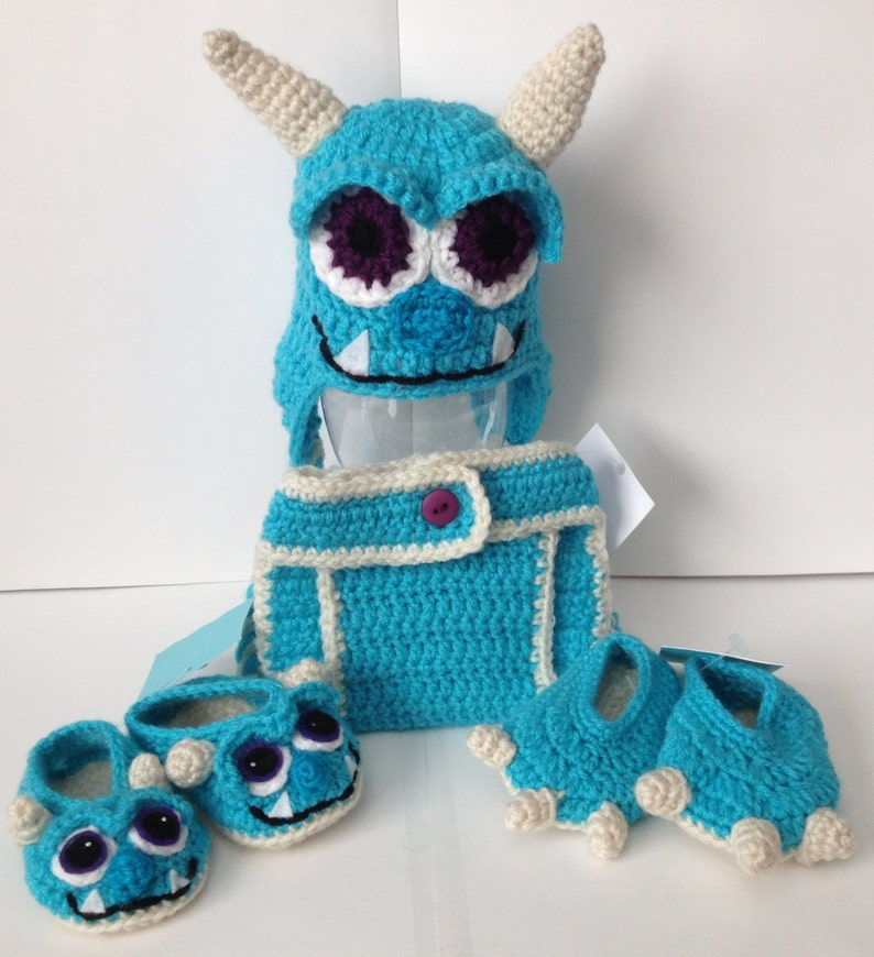 Sulley with stitched mouth from Monsters Inc./ University Baby image 0