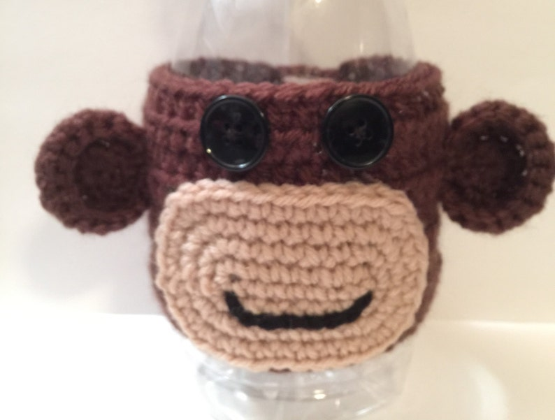 Monkey Coffee/ Tea Cup/ Mug Cozy with Button Closure or image 0