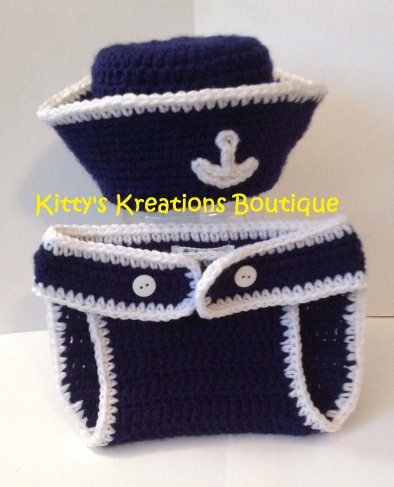 Adorable Sailor/ Summer Hat with Matching Sandals/ Shoes Boy image 0