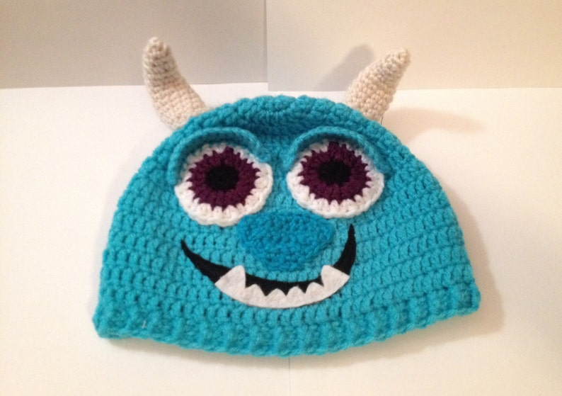 Child's Sulley Hat/ Beanie Crochet Pattern 24 months to image 0