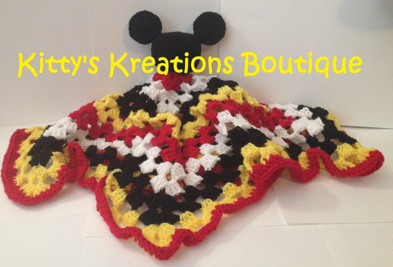 Mickey Mouse Lovey Blanket  23 x 23 image 0