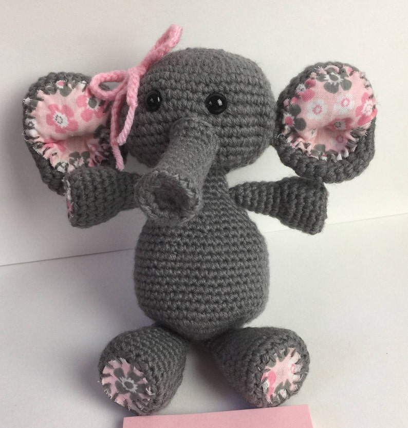 Elephant Stuffed Plush/ Toy or Pacifier/ Binky Holder  Any image 0