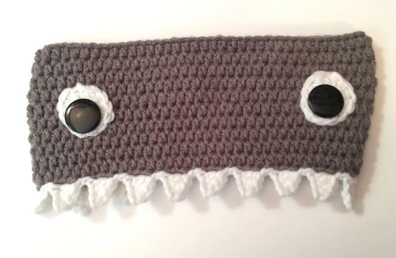 Shark Fish Ear Warmer/ Headband  Any Color  Any Size  All image 0