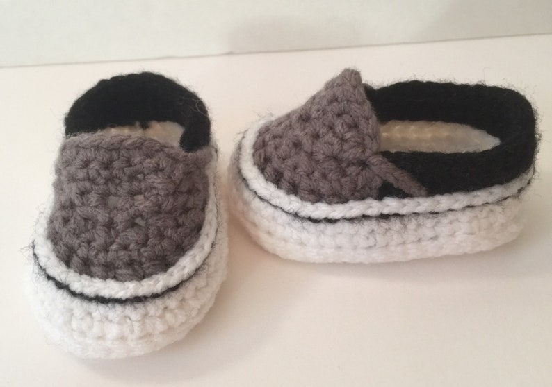 Adorable Hand Crocheted Vans Sneakers Shoes  Any Color & Up image 0