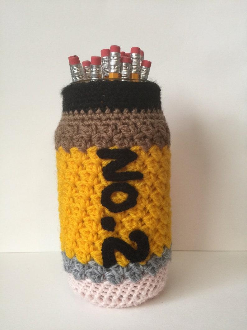 16oz Mason Jar Cover  Pencil Holder  Teacher Gift/ Present image 0