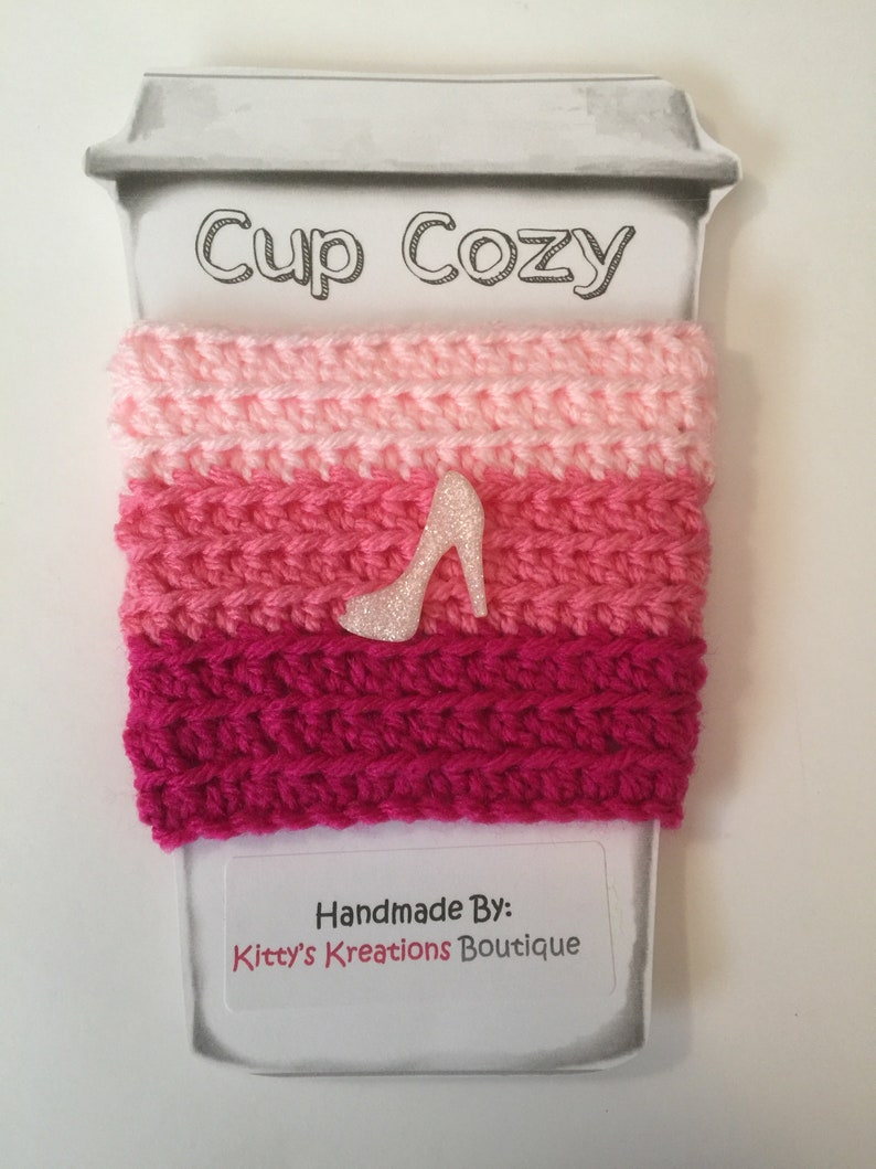 Cute Coffee Cup/ Mug Cozy  Any Color Combo Available Tean image 0