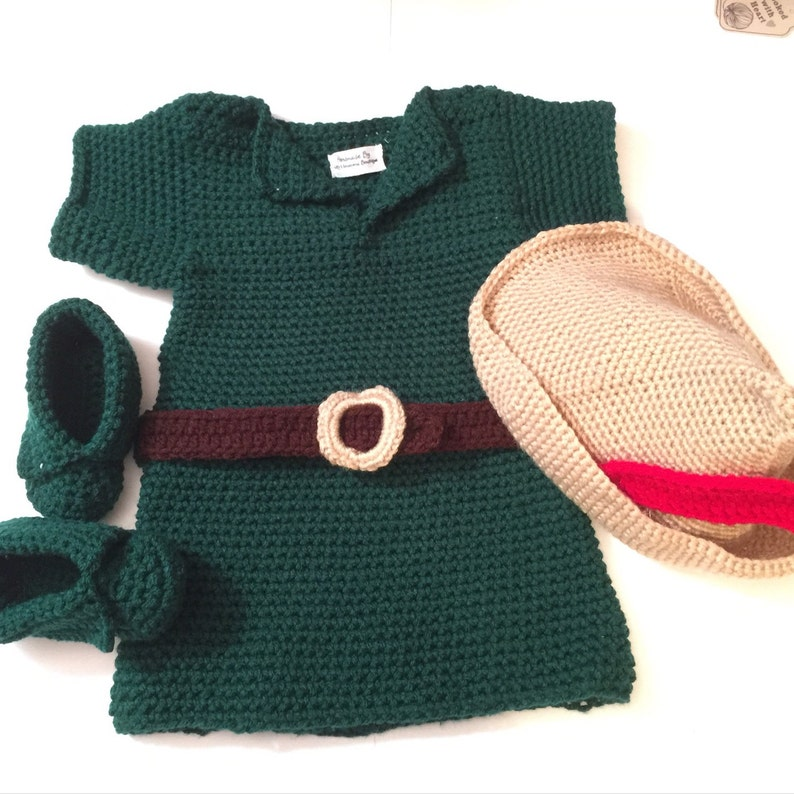 Robin Hood / Per Pan Outfit/ Set  Newborn to 6T Available image 0