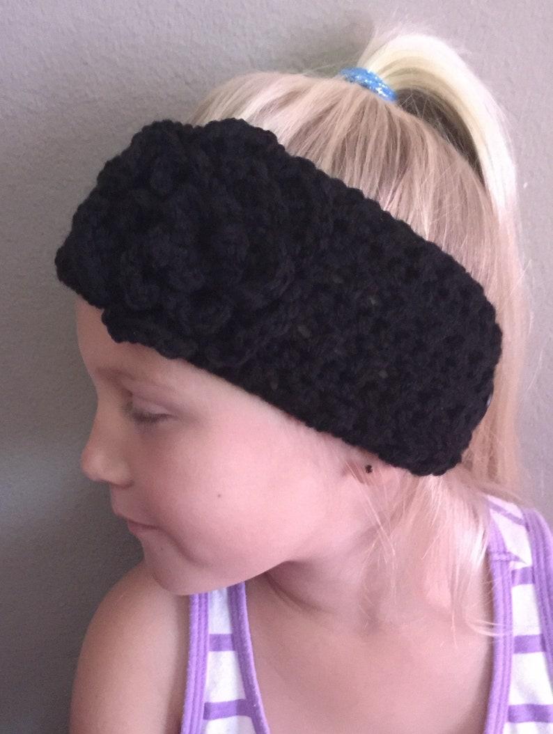 Hand Crocheted Teen/ Adult Size Headband  Ear Warmer  Any image 0
