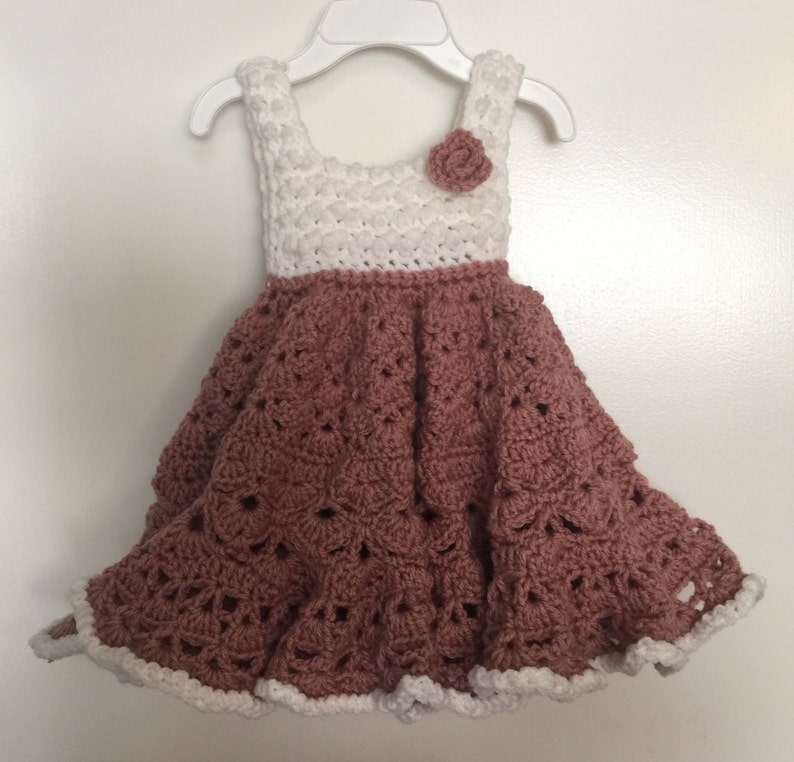 Baby Girls Cute & Frilly/ Twirl Dress with a Rose  Any Color image 0