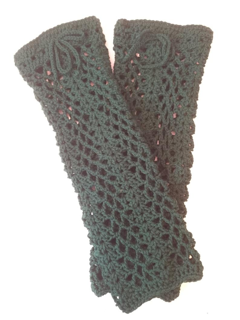 Hand Crocheted Leg Warmers Teen/ women Warm & Cozy for Fall image 0