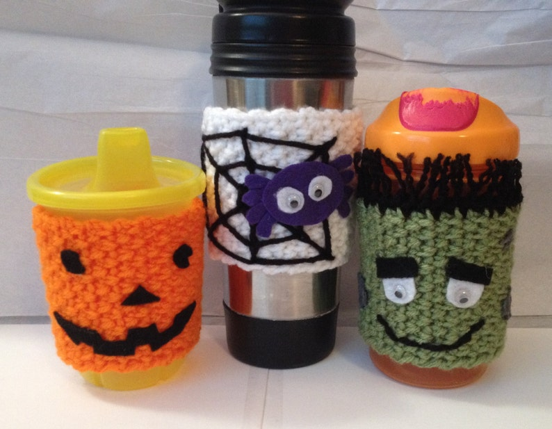 Coffee/ Mug/ Sippy Cup Cozy's  Halloween  Spider image 0