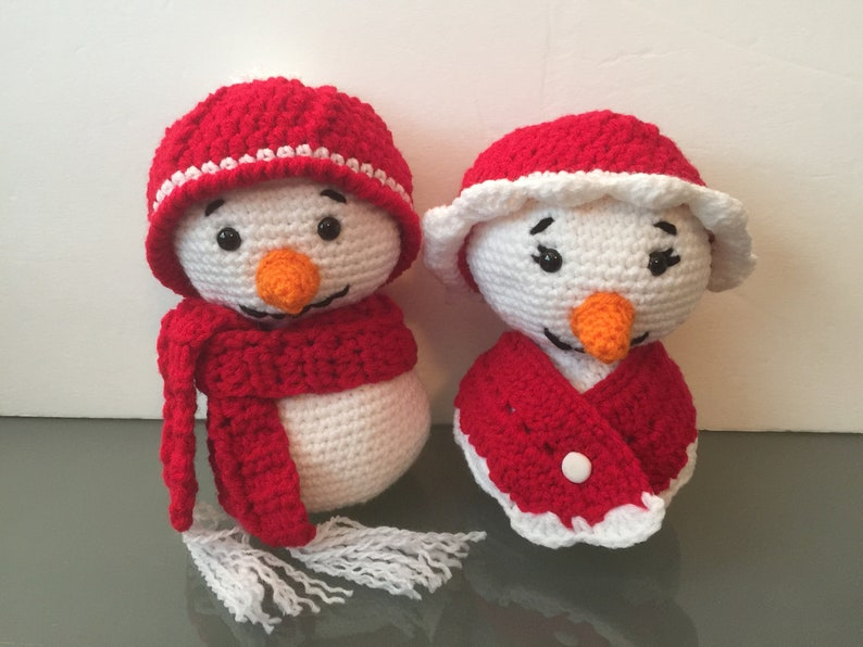 Super Cute Mr. & Mrs. Frosty the Snowman Couple Plush Toy  image 0
