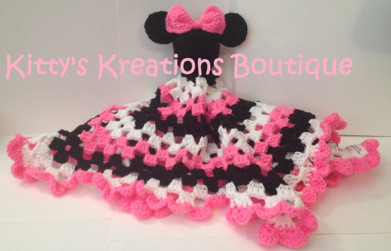 Minnie Mouse Lovey Blanket  23 x 23 image 0