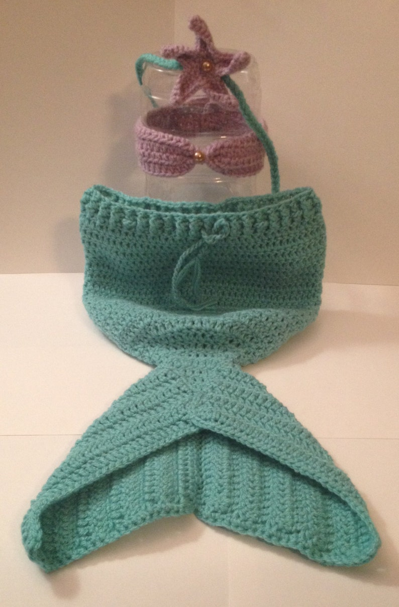 Super Cute Mermaid Outfit  Any Color Combo  Newborn to 12 image 0