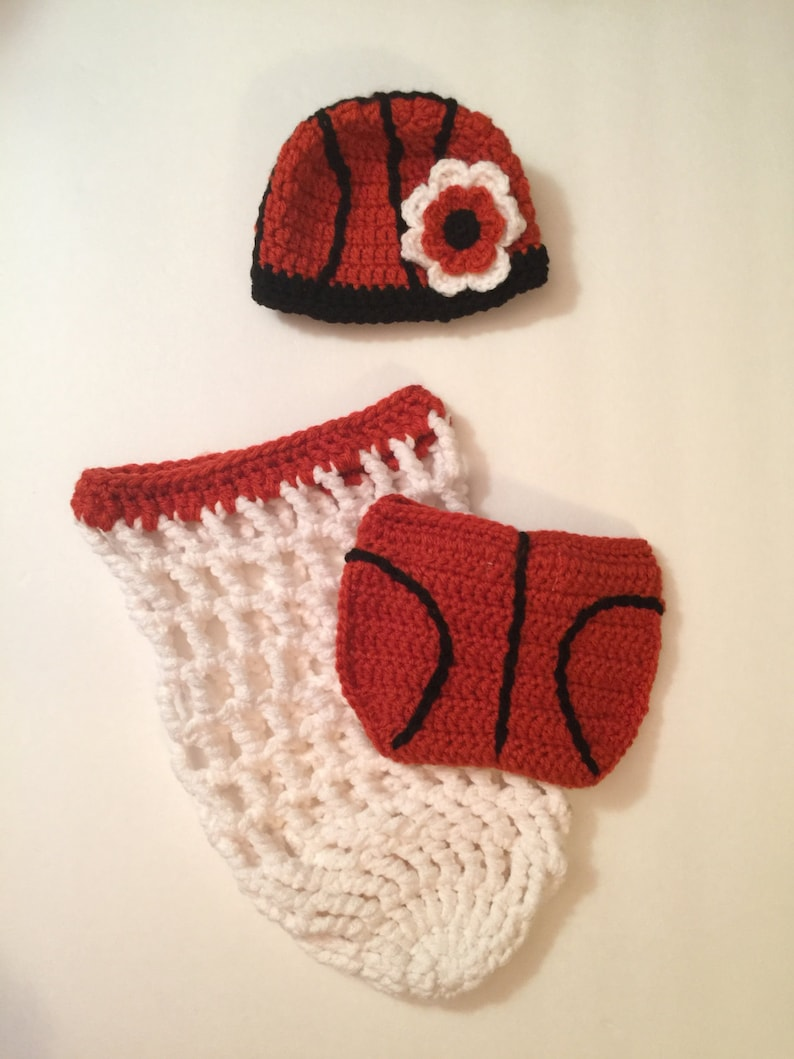 Basketball Baby Outfit Set Hat/ Beanie Net Diaper Cover  image 0