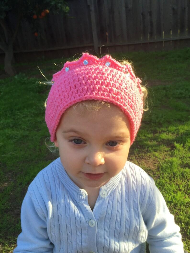 Princess Crown Ear Warmer/ Headband  Any Color  Any Size  image 0
