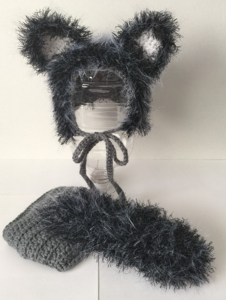 Wolf/ Fox/ Cat  Outfit/ Set  Newborn  0-3 Months image 0