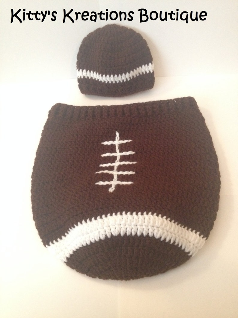 Football Sack/ Cocoon with Matching Hat/ Beanie image 0
