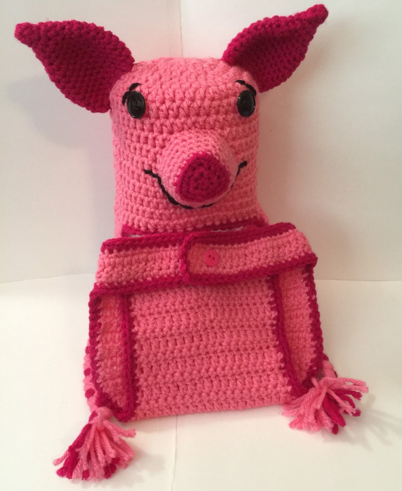Piglet from Winnie the Pooh  Hat & Diaper Cover  Newborn to image 0