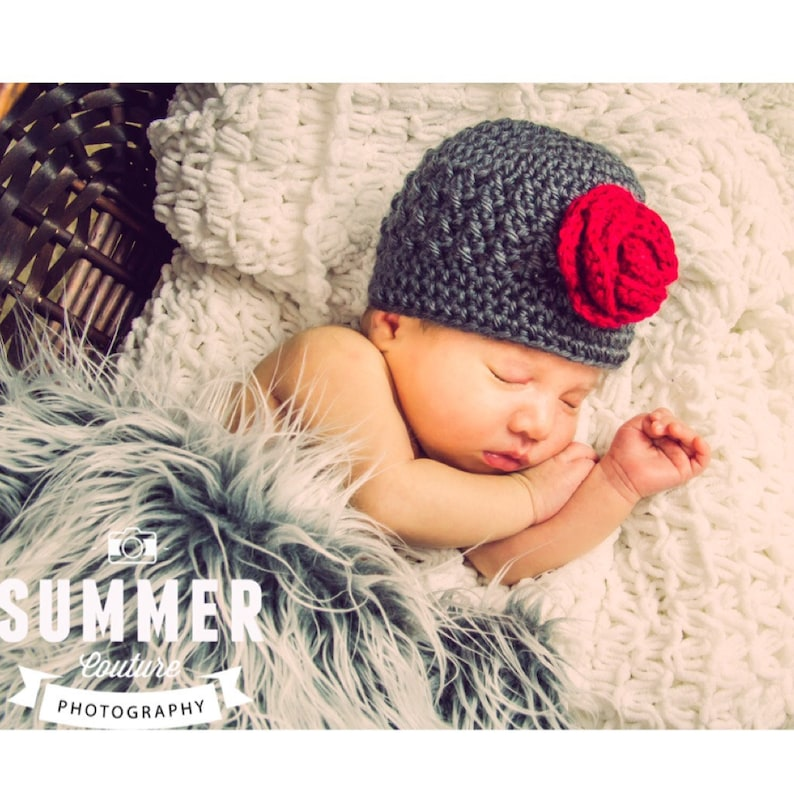 Cute Textured Beanie/ Hat with Matching Booties Any Color & image 0