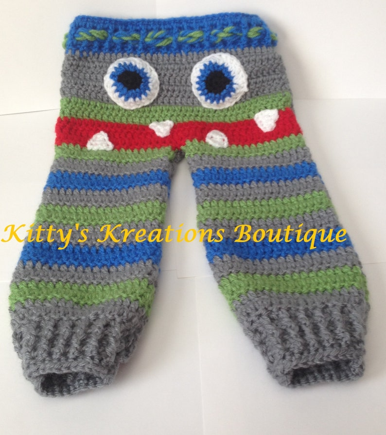 Cute Monster Pants  Any Character  Lots of Sizes  Boys & image 0