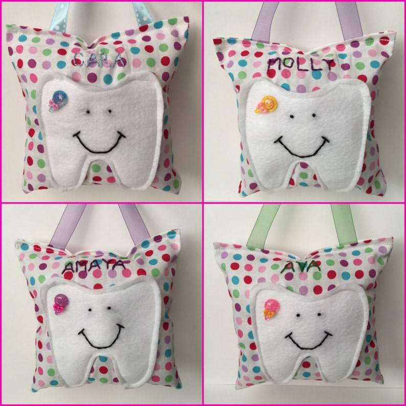Super Cute Kids Tooth Fairy Pillow w/ Child's Name image 0