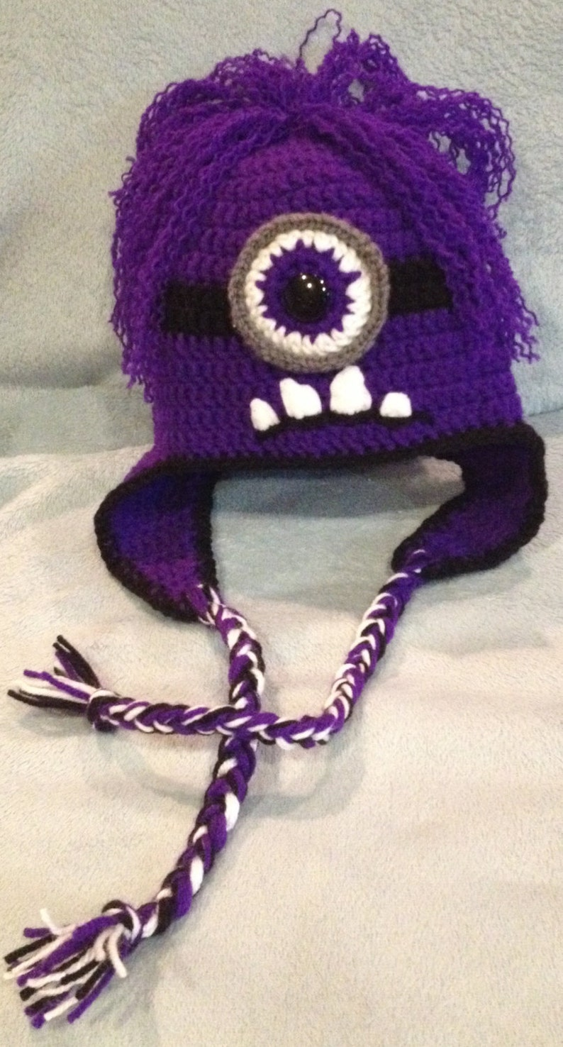 Child's Evil Minion Hat Crochet Pattern  Super Cute image 0
